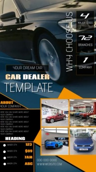 car dealership ad instagram template