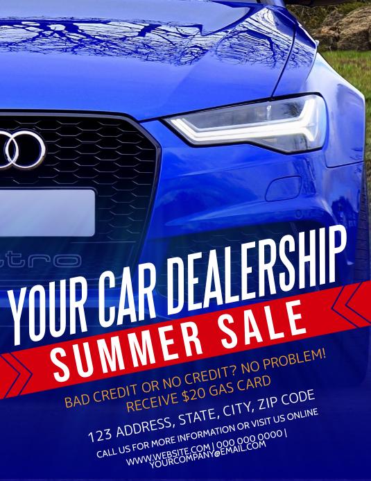 Car Dealership Company Flyer Template