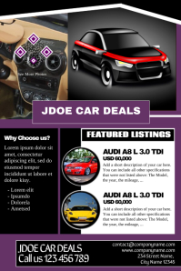 Car dealership flyers - Great for presenting business and car listings at a time