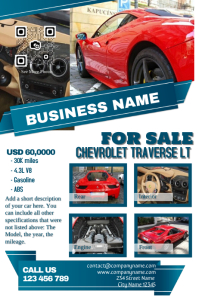 Light colored car dealership flyer template