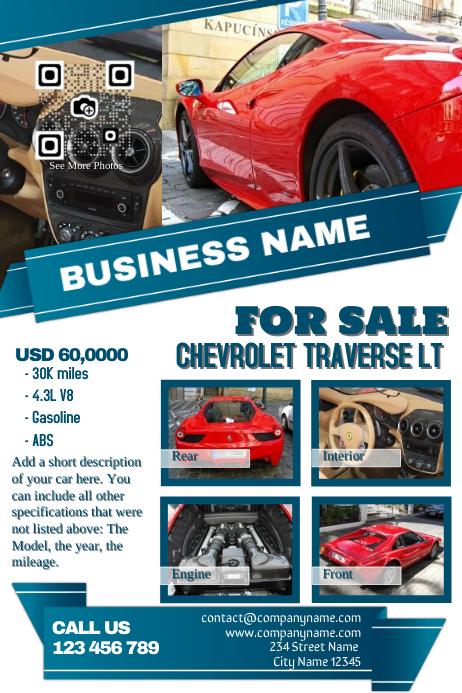 light colored car dealership flyer template