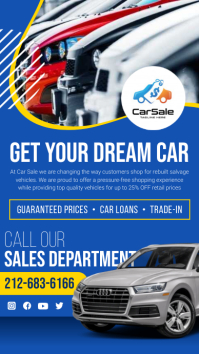 Car dealership Instagram Story template