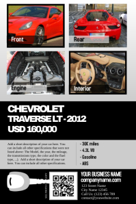 Car dealership poster - Clean design with big photos