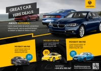 car deals Carte postale template