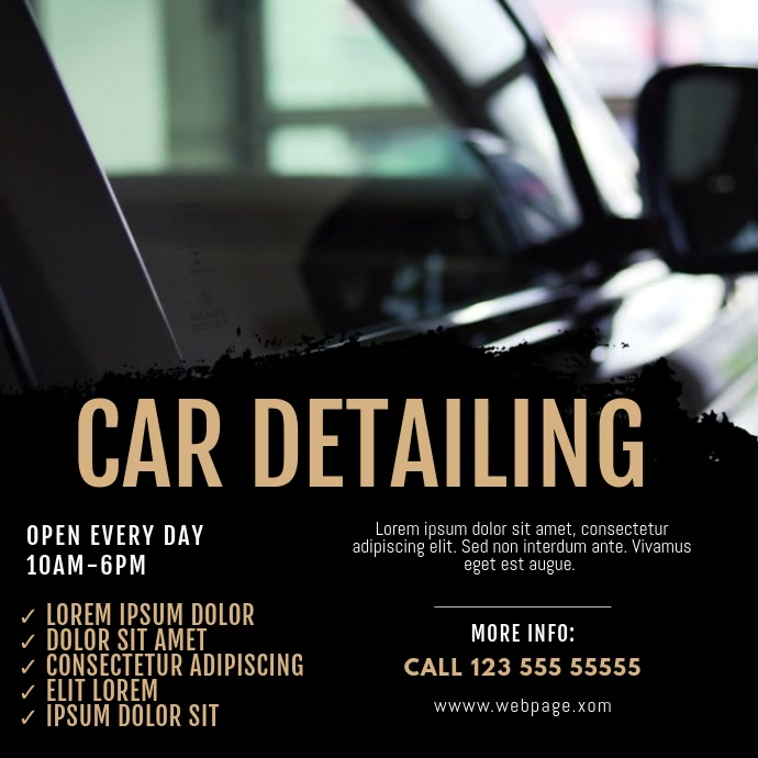 Car detailing business video ad template