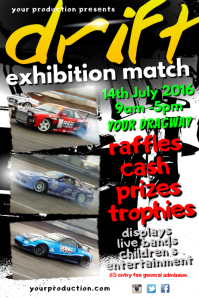 Car Drifting Event Poster