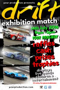 Car Drifting Event Poster