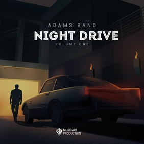 Car Drive music Album Cover Template