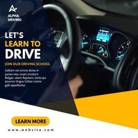 car driving school advertising Instagram-Beitrag template