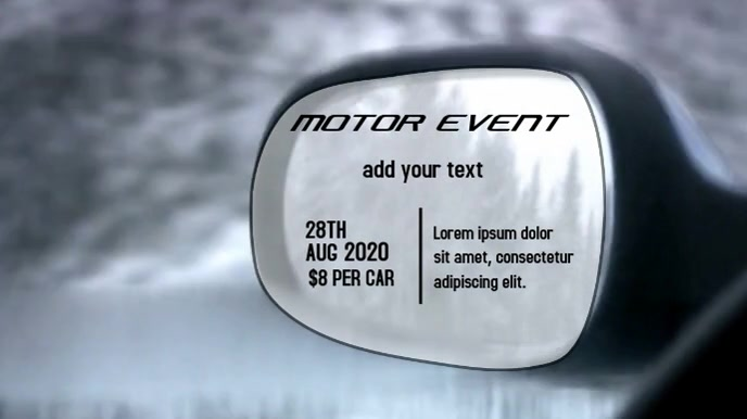 CAR EVENT VIDEO TEMPLATE Tampilan Digital (16:9)