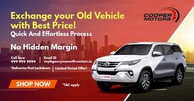 Car Exchange Offer Promo Template Imagen Compartida en Facebook