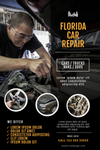 Car fix Repair Service Flyer Template