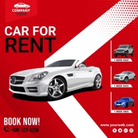 Car for Rent scoial media post template