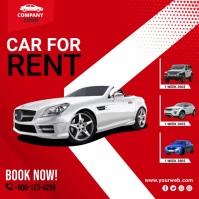 Car for Rent scoial media post template Publicação no Instagram