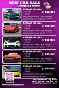 Car for sale listing flyer (Up to 10 cars with photos)