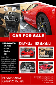 Car for sale - Pre made print template - Professional design