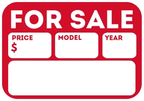 Car For Sale Sign Template A4