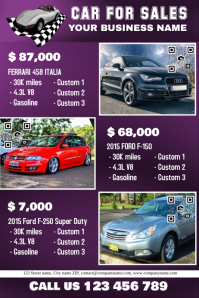 Eye-catching car for sales flyer - Big texts and big images