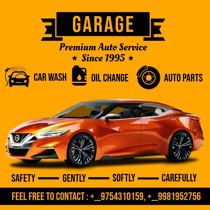 Car Garage Service Template Square (1:1)
