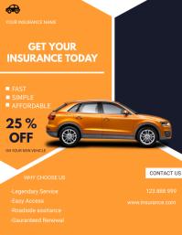 Car Insurance flyer template