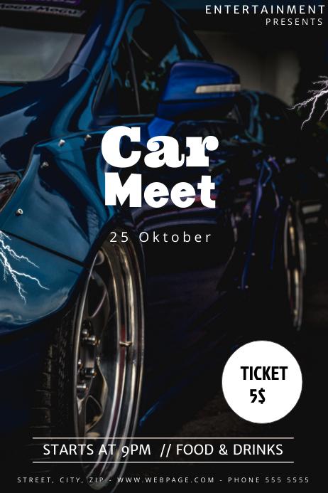 car meet flyer template