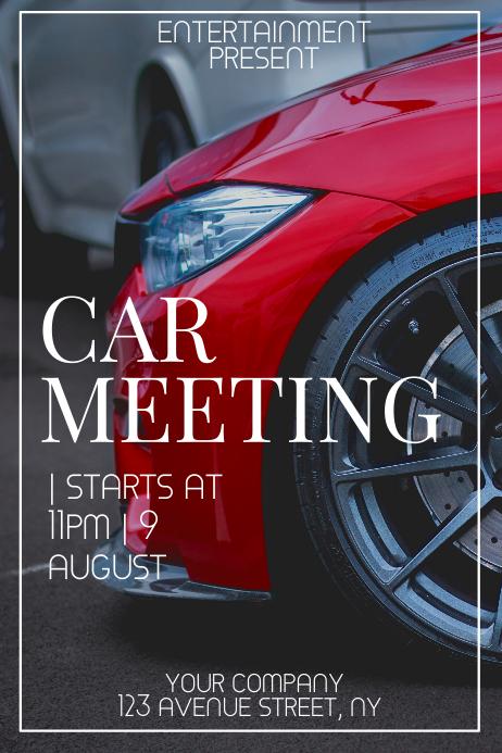 Car meeting event flyer template Plakkaat