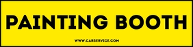 Car Painting Booth Sign Template Banner 2' × 8'
