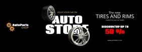 Car Parts Flyer Facebook Cover Photo template