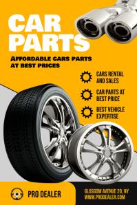 Car Parts Flyer Template Affiche