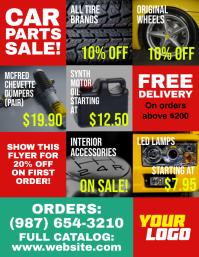 Car Parts Sale Retail Deals Flyer template