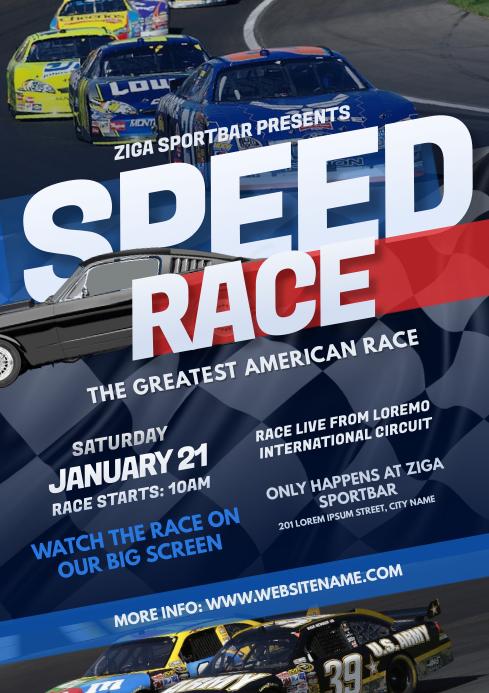 Car Racing Flyer A4 template