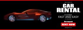 Car Rental Agency Flyer Facebook Cover Photo template