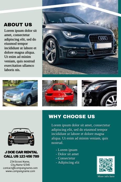 Car Rental Brochure Professional Template Postermywall