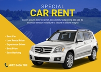 Car Rental Flyer Poskaart template