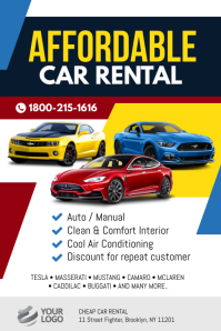 Car Rental Flyer Poster Template