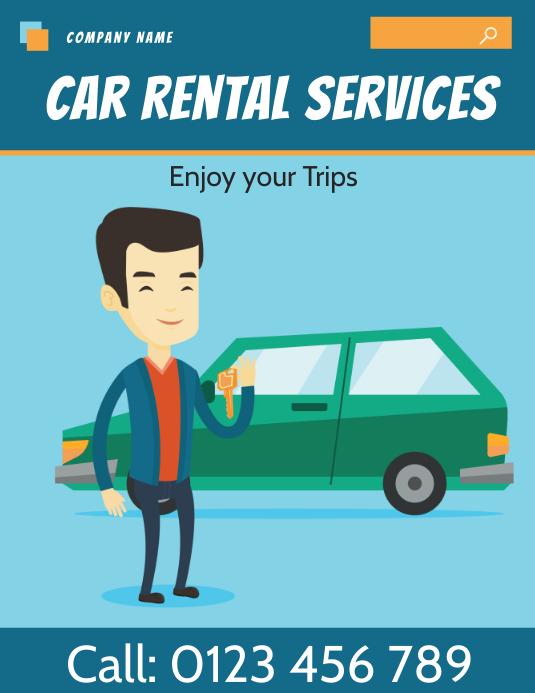 car rental flyer template