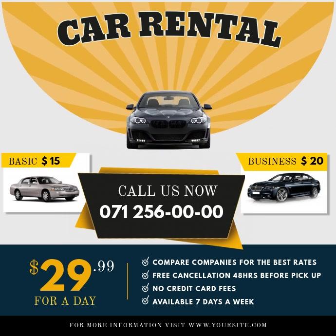 Car Rental Instagram Ad Square Video