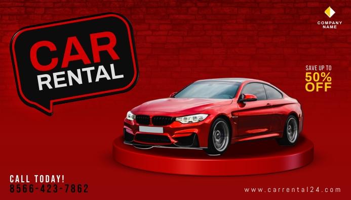 Car Rental Promotion Blog Header Banner template