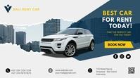 Car rental promotion social media facebook co Ecrã digital (16:9) template