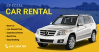 Car Rental Service banner Facebook Ad template