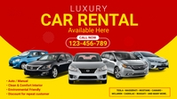 Car Rental Services Ad Twitter Post template