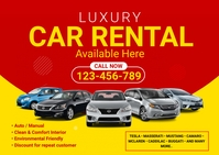 Car Rental Services Postcard template
