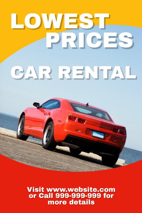 Car Rentals Plakat template