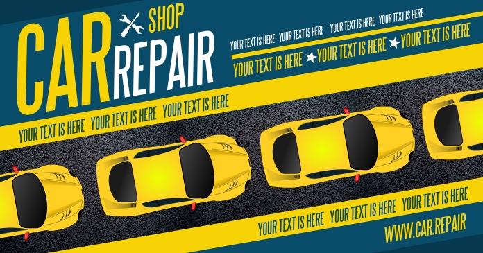 CAR REPAIR BANNER Изображение, которым поделились на Facebook template