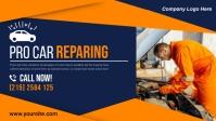 CAR REPAIR CENTER FLYER Facebook Cover Video (16:9) template