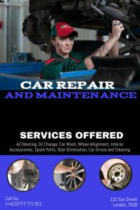 Car repair flyer template