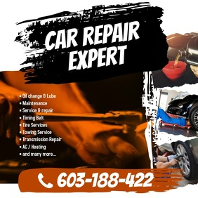 Car Repair Instagram Twitter Post