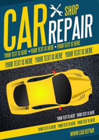 CAR REPAIR POSTER A4 template