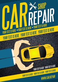 CAR REPAIR POSTER A4 template