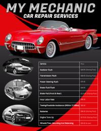 Car Repair Price List Flyer Template